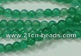 CTG42 15.5 inches 2mm round grade A tiny green agate beads wholesale