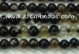 CTG46 15.5 inches 2mm round tiny black agate beads wholesale
