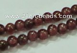 CTG54 15.5 inches 2mm round grade A tiny garnet beads wholesale