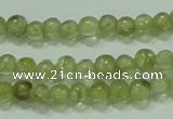 CTG55 15.5 inches 2mm round tiny olivine gemstone beads wholesale