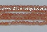 CTG609 15.5 inches 2mm faceted round golden sunstone beads