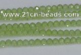 CTG629 15.5 inches 2mm faceted round peridot gemstone beads