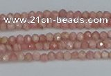 CTG653 15.5 inches 2mm faceted round Argentina rhodochrosite beads