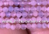 CTG710 15.5 inches 2mm faceted round tiny morganite beads