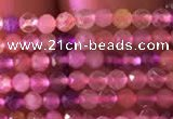 CTG740 15.5 inches 2mm faceted round tiny mixed quartz beads