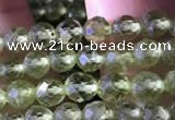 CTG745 15.5 inches 4mm faceted round tiny prehnite beads