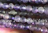 CTG751 15.5 inches 3mm faceted round tiny iolite beads wholesale