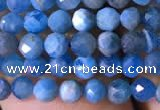 CTG761 15.5 inches 4mm faceted round tiny apatite gemstone beads