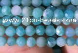 CTG765 15.5 inches 3mm faceted round tiny amazonite gemstone beads
