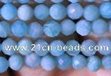 CTG766 15.5 inches 4mm faceted round tiny amazonite gemstone beads