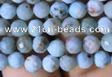 CTG770 15.5 inches 4mm faceted round tiny larimar gemstone beads