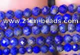 CTG781 15.5 inches 2mm faceted round tiny lapis lazuli beads wholesale