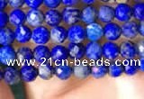 CTG782 15.5 inches 3mm faceted round tiny lapis lazuli beads wholesale