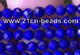 CTG786 15.5 inches 3mm faceted round tiny lapis lazuli gemstone beads
