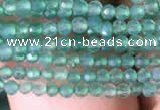 CTG827 15.5 inches 2mm faceted round tiny green agate beads