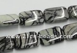 CTJ18 16 inches 13*18mm rectangle black water jasper beads wholesale