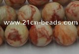 CTJ704 15.5 inches 12mm round red net jasper beads wholesale