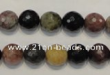 CTO30 15.5 inches 10mm faceted round natural tourmaline beads
