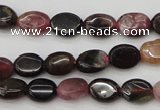 CTO385 15.5 inches 6*8mm oval natural tourmaline beads wholesale