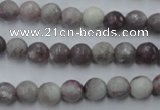 CTO482 15.5 inches 8mm faceted round pink tourmaline gemstone beads