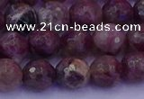 CTO612 15.5 inches 7mm faceted round tourmaline gemstone beads