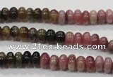 CTO69 15.5 inches 5*8mm rondelle natural tourmaline gemstone beads