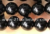 CTO701 15.5 inches 6mm round black tourmaline beads wholesale