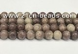 CTO723 15.5 inches 12mm round Chinese tourmaline beads