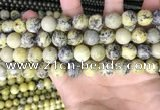 CTP224 15.5 inches 12mm round yellow turquoise beads wholesale