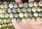 CTP225 15.5 inches 14mm round yellow turquoise beads wholesale