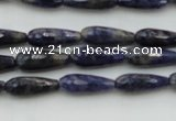 CTR04 15.5 inches 6*16mm faceted teardrop sodalite gemstone beads