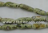 CTR09 15.5 inches 6*16mm faceted teardrop rhyolite gemstone beads