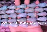 CTR308 15.5 inches 10*25mm faceted teardrop amazonite beads