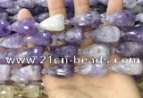 CTR354 15.5 inches 15*25mm faceted teardrop lavender amethyst beads