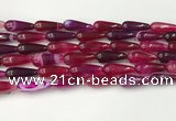 CTR402 15.5 inches 8*20mm teardrop agate beads wholesale