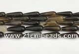 CTR414 15.5 inches 10*30mm teardrop agate beads wholesale