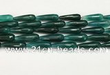 CTR462 15.5 inches 10*30mm faceted teardrop agate beads wholesale