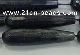 CTR61 15.5 inches 10*40mm faceted teardrop lapis lazuli beads