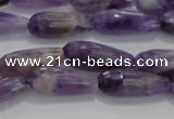 CTR71 15.5 inches 6*16mm faceted teardrop dogtooth amethyst beads