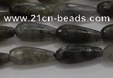 CTR77 15.5 inches 6*16mm faceted teardrop labradorite beads
