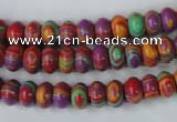 CTU1171 15.5 inches 5*8mm rondelle synthetic turquoise beads wholesale