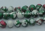 CTU224 16 inches 8mm round imitation turquoise beads wholesale