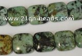 CTU2479 15.5 inches 14*14mm square African turquoise beads wholesale