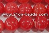CTU2737 15.5 inches 18mm round synthetic turquoise beads