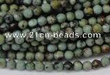 CTU550 15.5 inches 4mm faceted round African turquoise beads