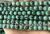 CTU582 15.5 inches 8mm round natural african turquoise beads