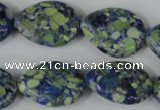 CTU692 15.5 inches 18*25mm flat teardrop synthetic turquoise beads