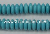 CTU880 15.5 inches 5*8mm rondelle dyed turquoise beads wholesale