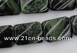 CTW381 15.5 inches 15*20mm twisted rectangle kambaba jasper beads