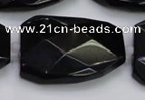 CTW513 15.5 inches 30*40mm faceted & twisted synthetic quartz beads